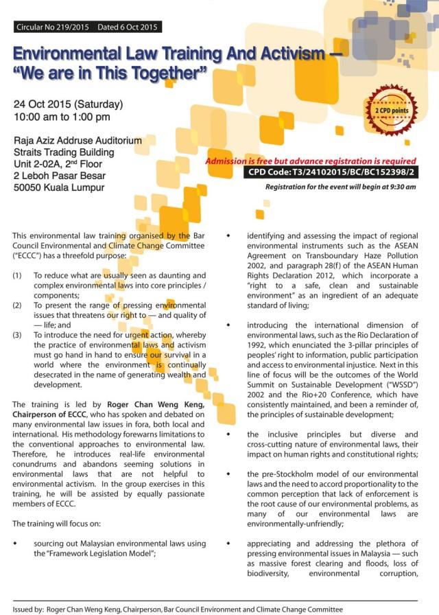 Environmental Law Training
