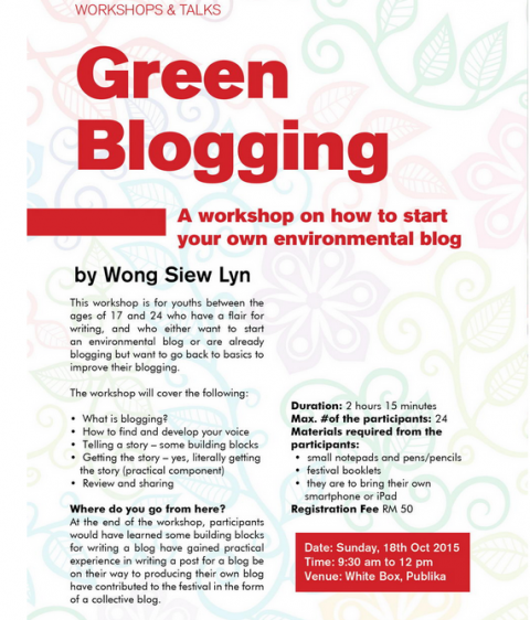 Green Blogging Workshop