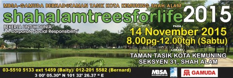 Shah Alam Trees For Life – 14 November 2015