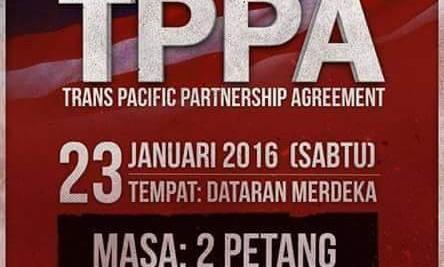 Demonstrasi Rakyat Bantah TPPA