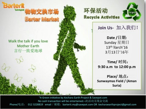 Barter Market & Recycling Activities for our Earth :)