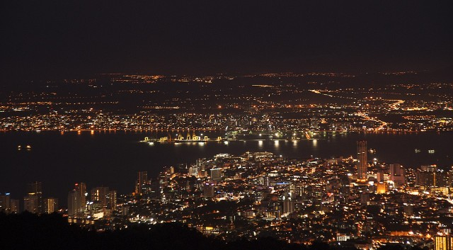 Penang Island At Night.
