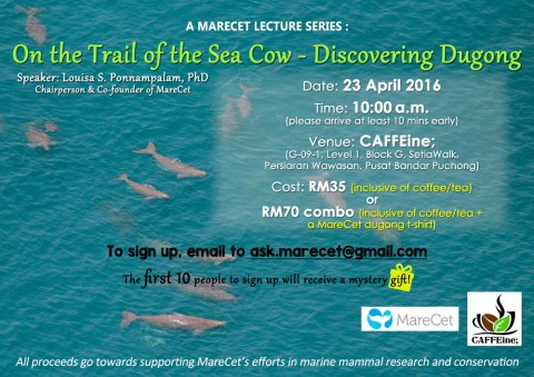 MareCet Public Lecture Series: On the Trail of the Sea Cow – Discovering Dugong