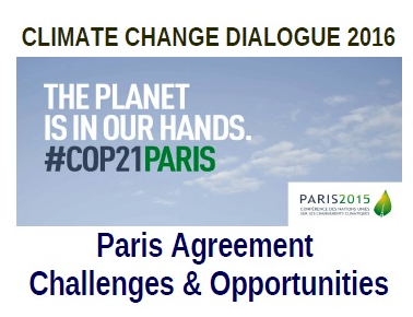 TUESDAY 31 MAY 2016 – CLIMATE CHANGE DIALOGUE 2016