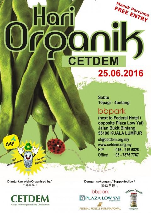 SATURDAY 25 JUNE 2016 – HARI ORGANIK IN BBQ PARK, JALAN BUKIT BINTANG