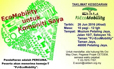 Ahad, 26 Jun 2016 – Taklimat Kesedaran PJ-EcoMobility