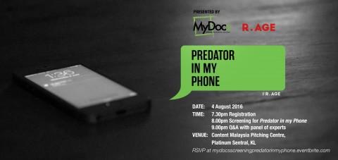 MyDocs Documentary Screening of 'Predator In My Phone' by R.AGE