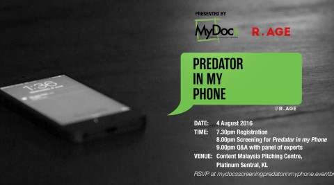 MyDocs Documentary Screening of 'Predator In My Phone' by R.AGE