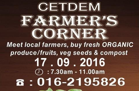 SAT, 17 SEPTEMBER 2016: CETDEM FARMER'S CORNER @ OFCC